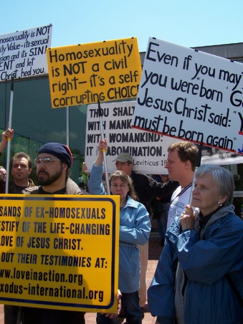 Signs speaking the truth about homosexuality.